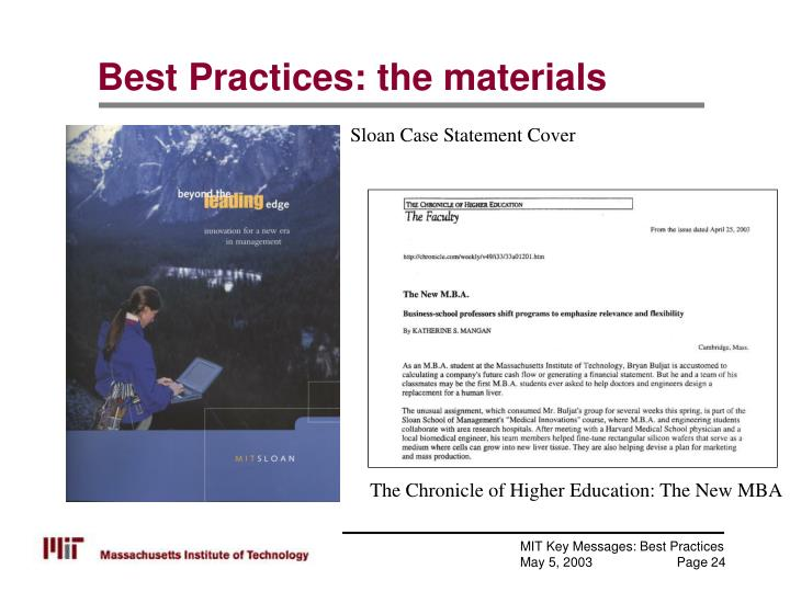 Best Practices: the materials