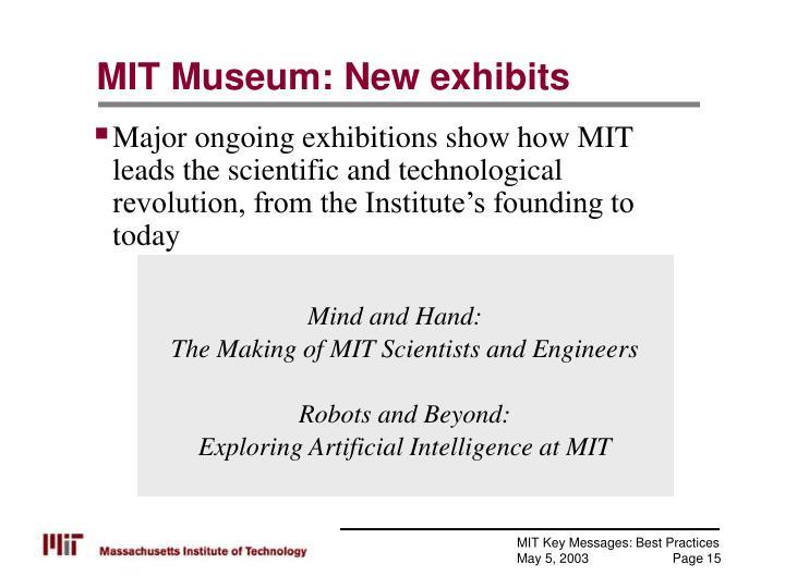 MIT Museum: New exhibits