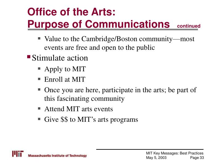 Office of the Arts:
