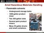 arnel hazardous materials handling