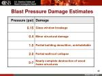 blast pressure damage estimates