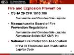 fire and explosion prevention