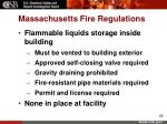 massachusetts fire regulations