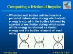 computing a frictional impulse20