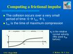 computing a frictional impulse21