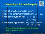 computing a frictional impulse23