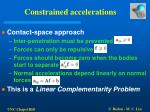 constrained accelerations11