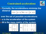 constrained accelerations13