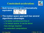 constrained accelerations16