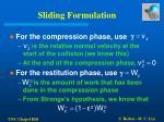 sliding formulation