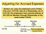 adjusting for accrued expenses64