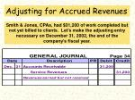 adjusting for accrued revenues69