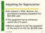 adjusting for depreciation51