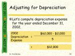 adjusting for depreciation52