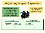 adjusting prepaid expenses