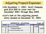 adjusting prepaid expenses46
