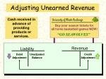 adjusting unearned revenue
