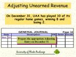 adjusting unearned revenue59