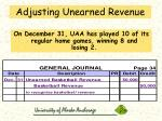 adjusting unearned revenue60
