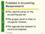 problems in accounting measurements