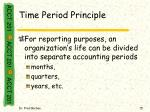 time period principle