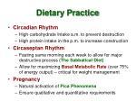 dietary practice