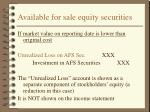 available for sale equity securities25