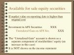available for sale equity securities26