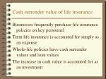 cash surrender value of life insurance
