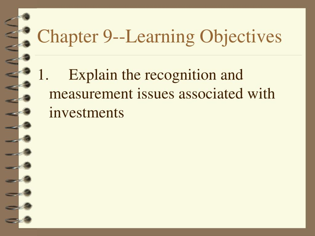 chapter 9 learning objectives l.