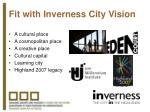 fit with inverness city vision