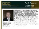 prof duncan macmillan