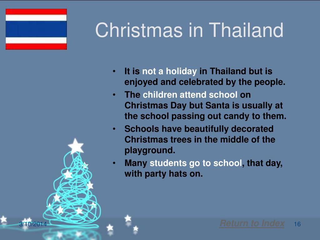 Christmas in Thailand