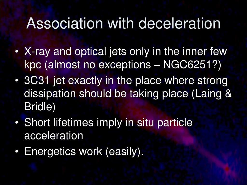 Association with deceleration