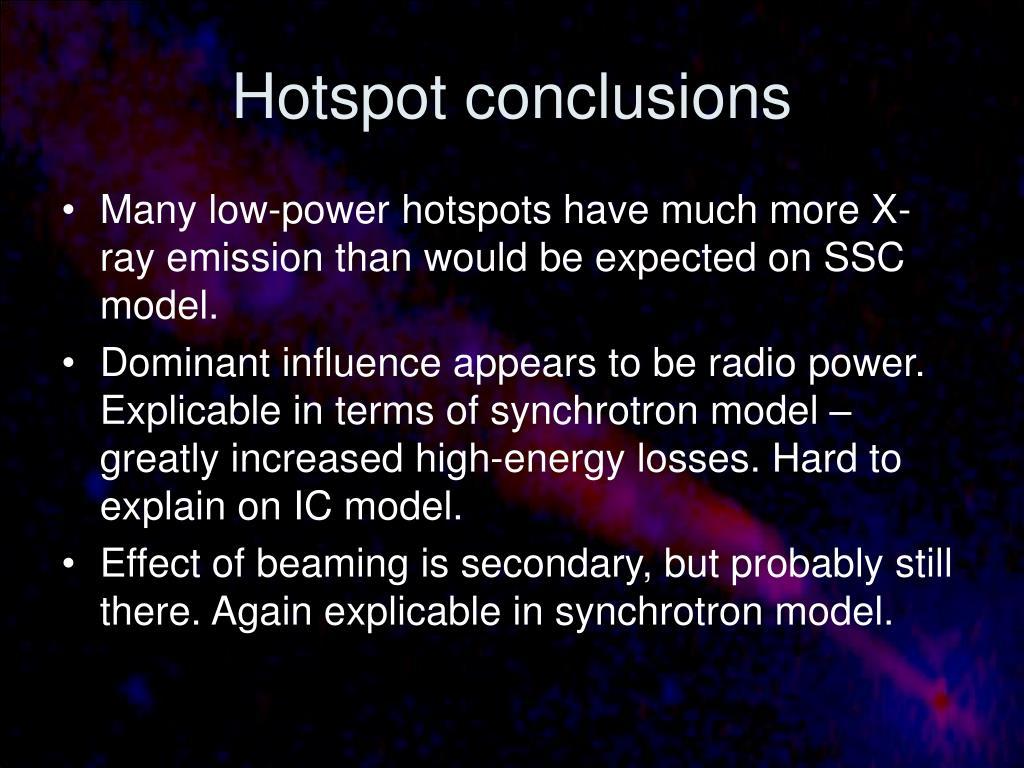 Hotspot conclusions