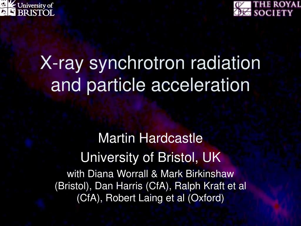 x ray synchrotron radiation and particle acceleration l.