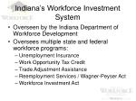 indiana s workforce investment system