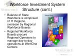 workforce investment system structure cont