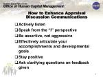 how to enhance appraisal discussion communications