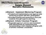 sample element narrative statements