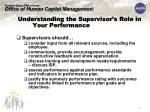 understanding the supervisor s role in your performance appraisal