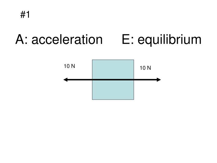 A acceleration e equilibrium2