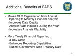 additional benefits of fars