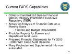 current fars capabilities