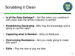 scrubbing it clean