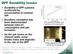 dpf durability issues
