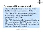 prepayment benchmark model