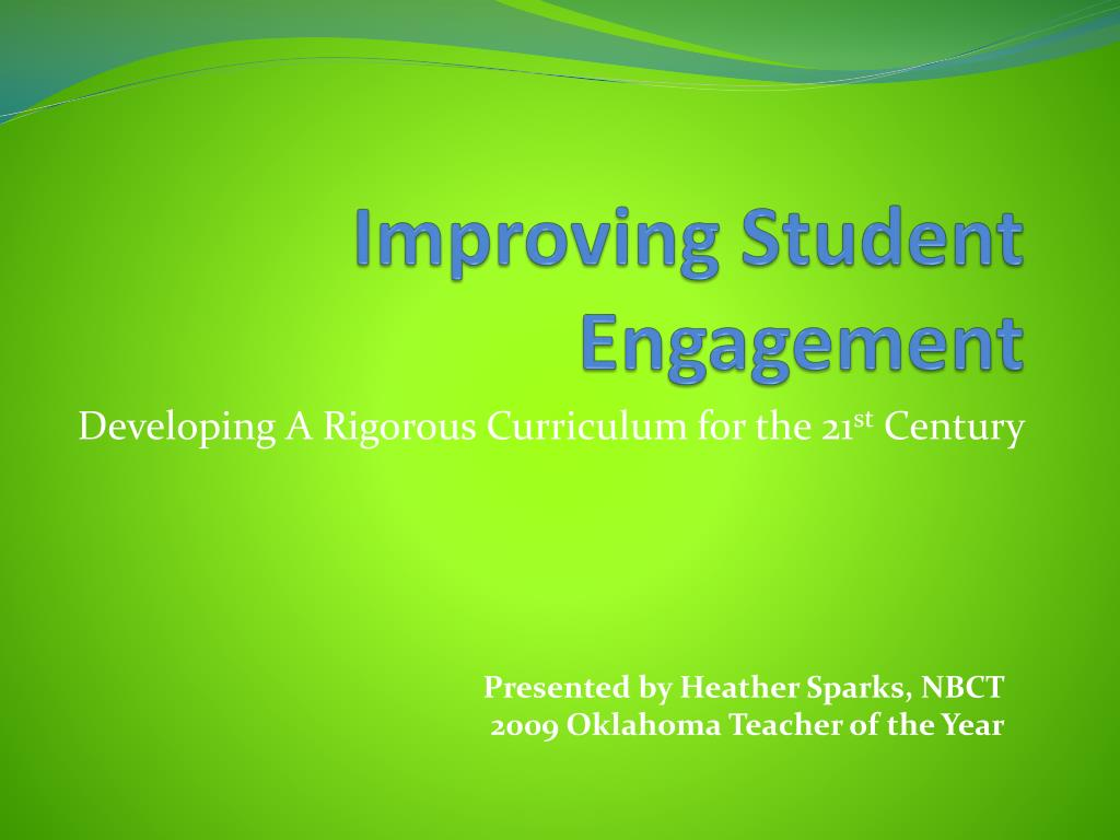 improving student engagement l.