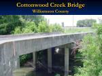 cottonwood creek bridge williamson county