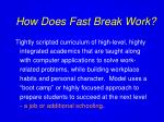 how does fast break work